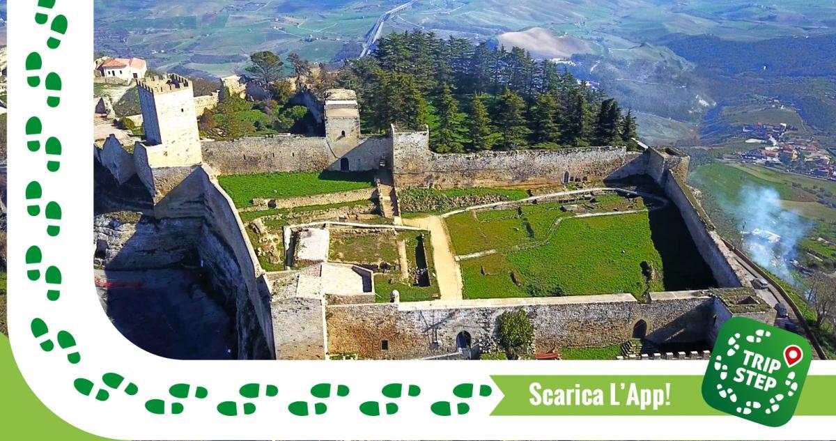Enna Castello di Lombardia veduta aerea