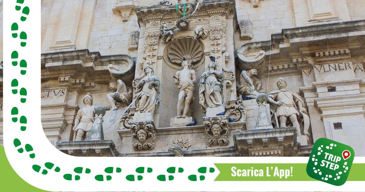 Ferla Chiesa di San Sebastiano dettaglio foto di: Davide Mauro via Wikimedia Commons