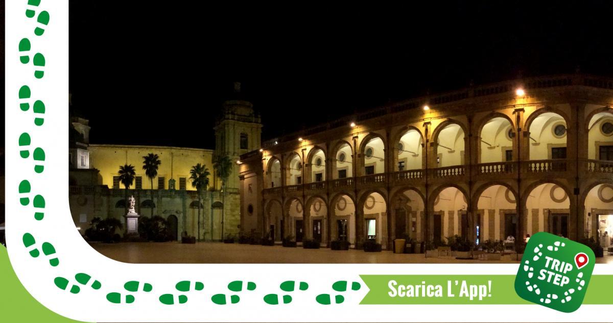 Mazara del Vallo piazza Repubblica veduta del Duomo e dell' Arcivescovado