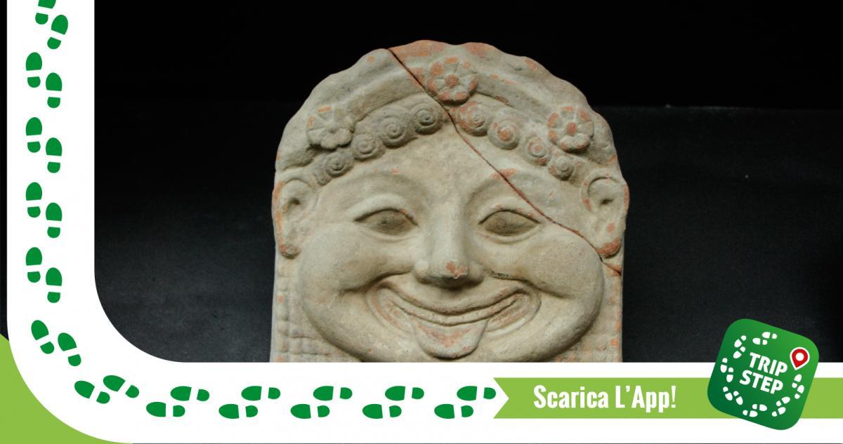 Museo archeologico di Gela antefissa gorgonica foto di Davide Mauro via Wikimedia Commons