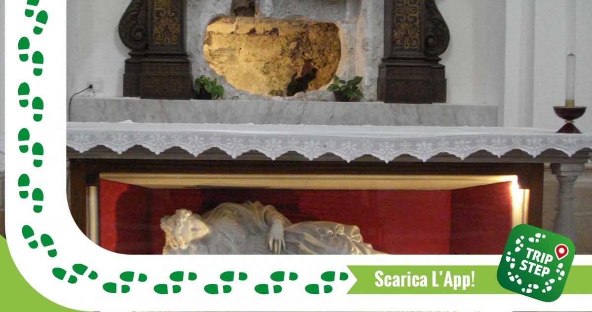 Primo sepolcro di Santa Lucia e statua della Santa
