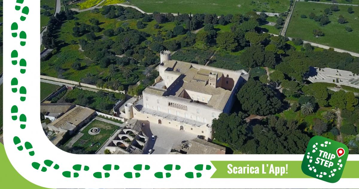 Ragusa castello di Donnafugata vista aerea