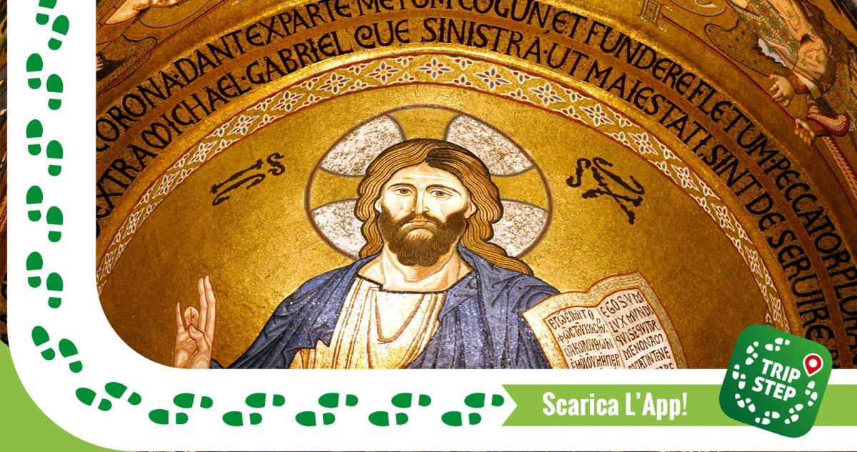 Cappella Palatina Cristo Pantocratore particolare foto di: José Luiz Bernardes Ribeiro via Wikimedia Commons