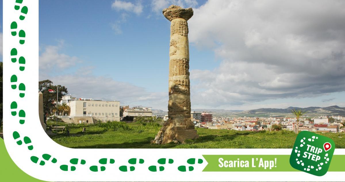 Gela area archeologica di Molino a Vento colonna dorica foto di: Davide Mauro via Wikimedia Commons
