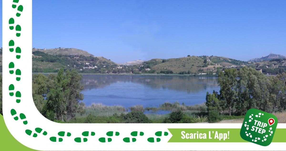 Veduta del lago di Pergusa