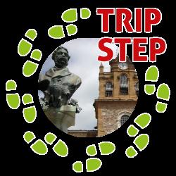 Piazza Filippo Cordova busto di Filippo Cordova e torre adelasia foto di Morgantia07 via wikimedia commons