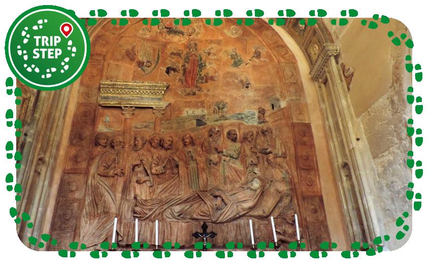 Chiesa di Santa Maria delle Scale bassorilievo in terracotta foto di elevitto via Tripadvisor