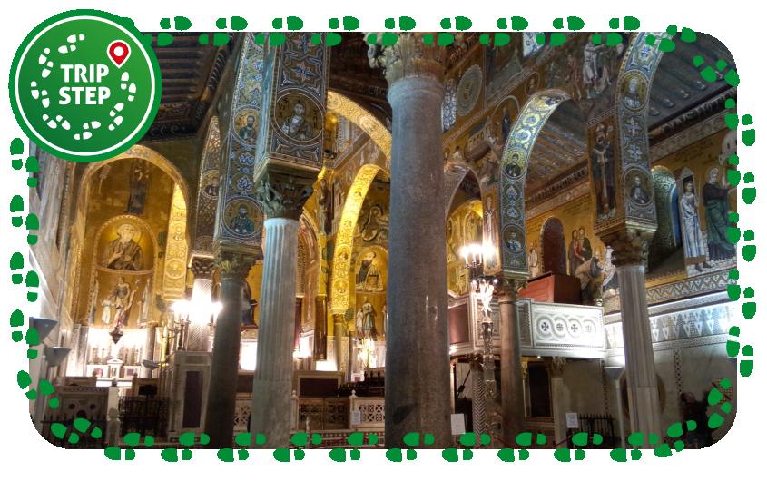 Cappella Palatina interno da navata ovest foto di: Molino8 via Wikimedia Commons