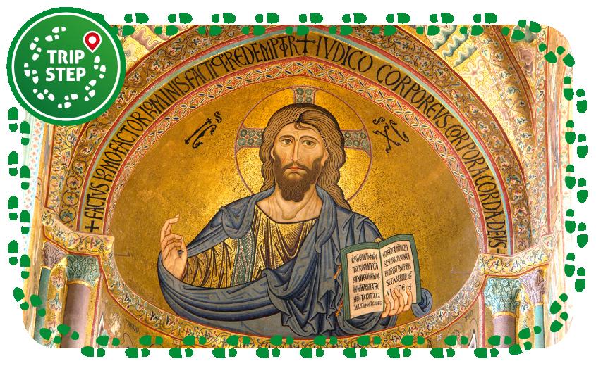 Cefalù Duomo mosaico Cristo Pantocratore foto di: Berthold Werner via Wikimedia Commons