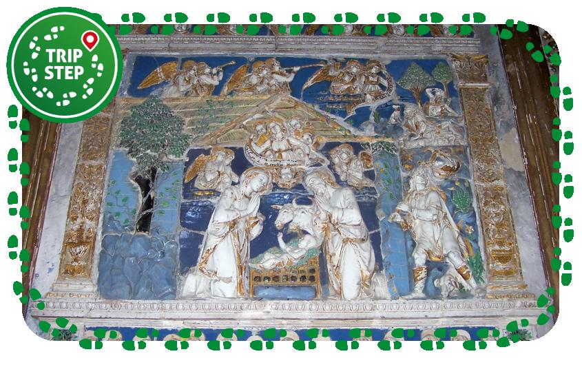 Chiesa S. Maria della Stella Natività di Andrea della Robbia foto di Gimalgi73 via Wikimedia Commons