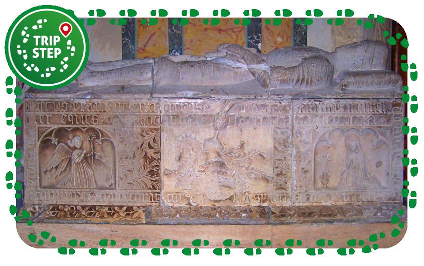 Chiesa S. Maria della Stella Sarcofago del barone di Militello Blasco II Barresi foto di Gimalgi73 via Wikimedia Commons