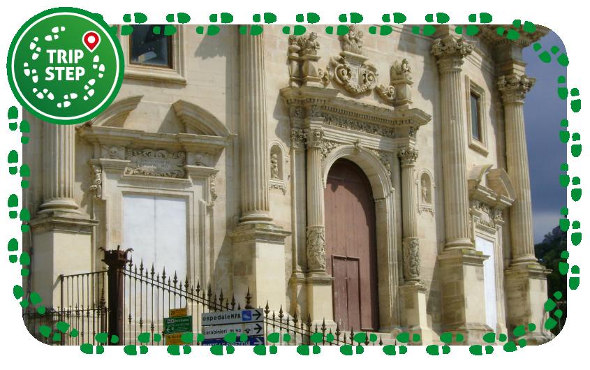 Chiesa delle Santissime Anime del Purgatorio particolare dei tre portali foto di Salvo Montalbano via Wikimedia Commons