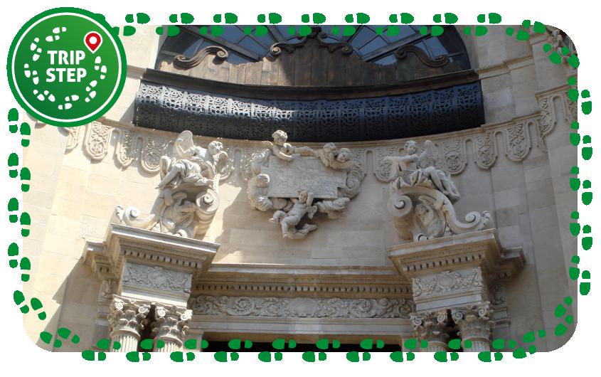 Chiesa della Badia di Sant'Agata dettaglio della facciata foto di Giovanni Dall'Orto via Wikimedia Commons