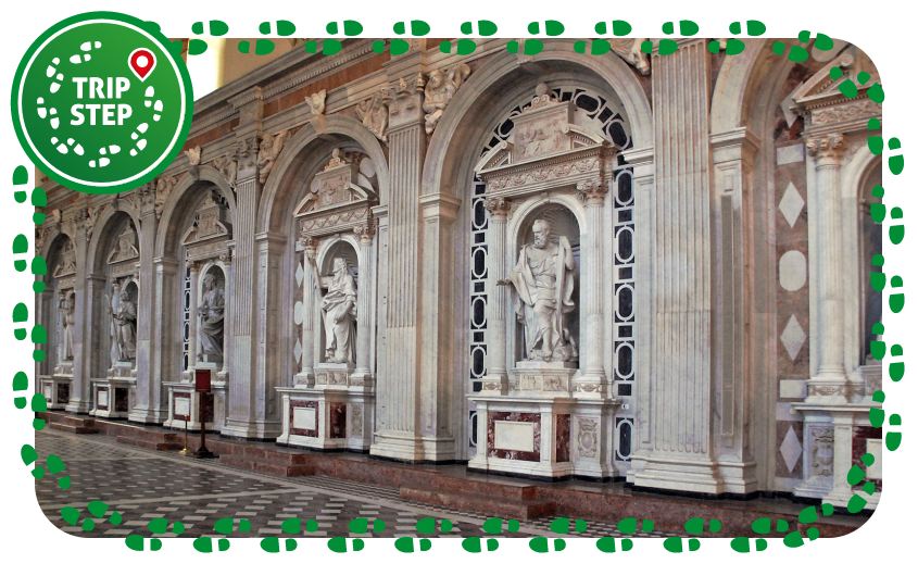 Messina Duomo particolare dell' Apostolato Montorsoli via Wikimedia Commons
