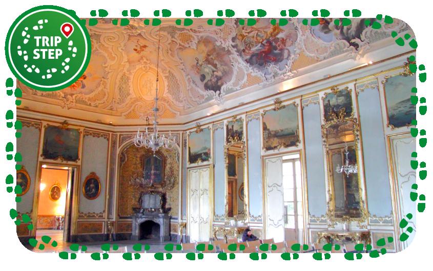 Palazzo Biscari salone delle feste foto di Rabe! via Wikimedia Commons