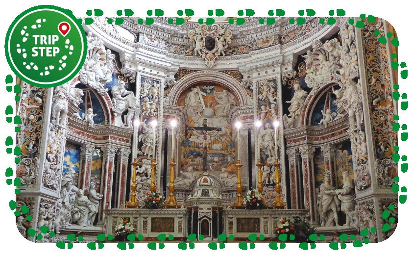 Palermo Chiesa del Gesù particolare dell' altare foto di: Effems via Wikimedia Commons