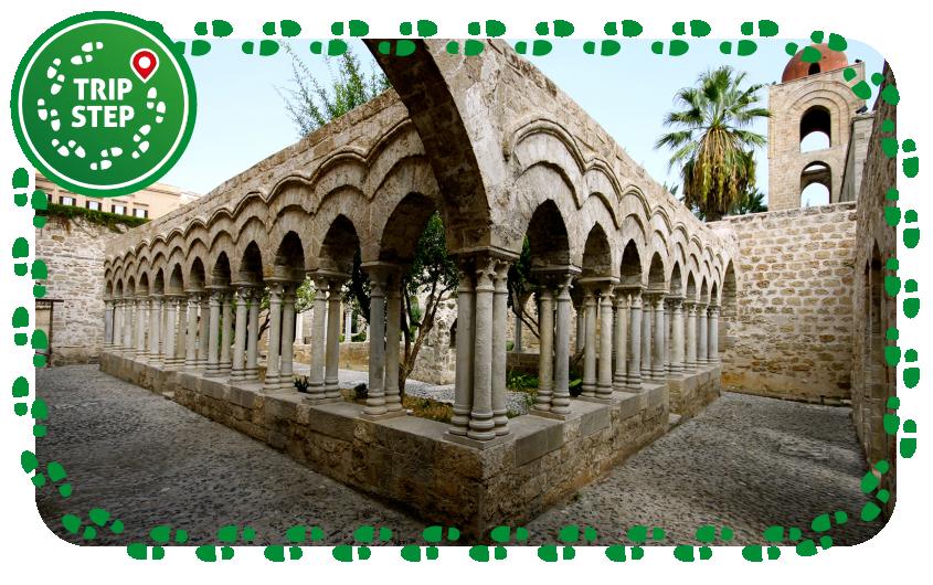 Palermo chiesa San Giovanni degli Eremiti chiostro foto di: Matthias Süßen via Wikimedia Commons