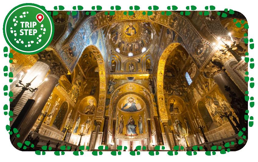 Palermo palazzo dei Normanni interno della Cappella Palatina foto di: Pistillo99 via Wikimedia Commons