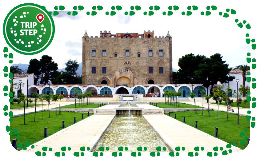 Palermo palazzo della Zisa visto dal giardino foto di: Matthias Süßen via Wikimedia Commons