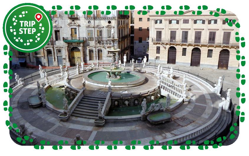 Palermo piazza pretoria fontana pretoria Foto di Effems via Wikimedia Commons