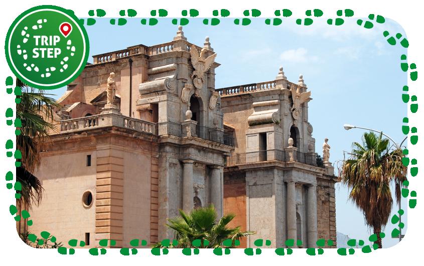 Palermo Porta Felice con mura cattive e loggiato san Bartolomeo e vista sul Cassero foto di Matthias Süßen via Wikimedia Commons