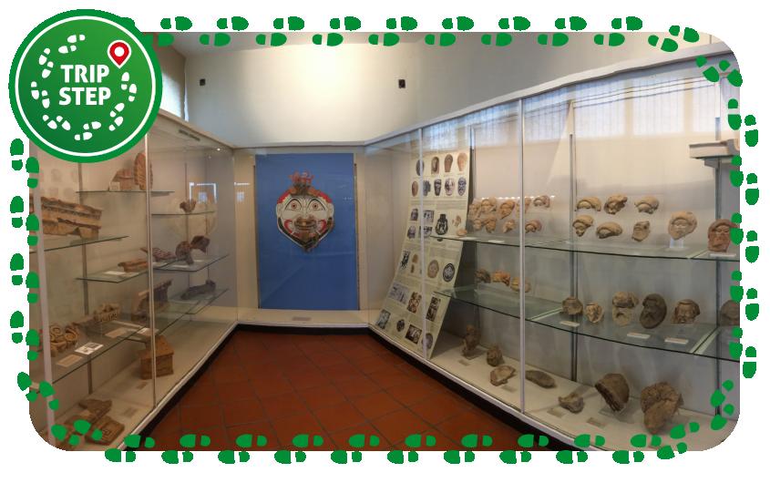 Parco archeologico di Naxos sala espositiva del museo