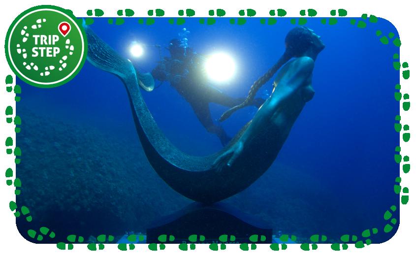 Area marina protetta Plemmirio statua sottomarina di Rossana Maiorca foto di: Gianfranco Mazza via Wikimedia Commons