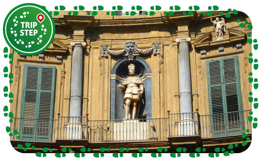 Palermo Quattro Canti particolare foto di: Giovanni Dall'Orto via Wikimedia Commons