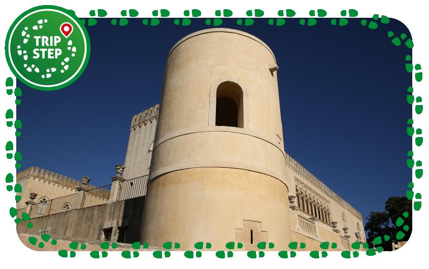 Ragusa castello di Donnafugata particolare della torre