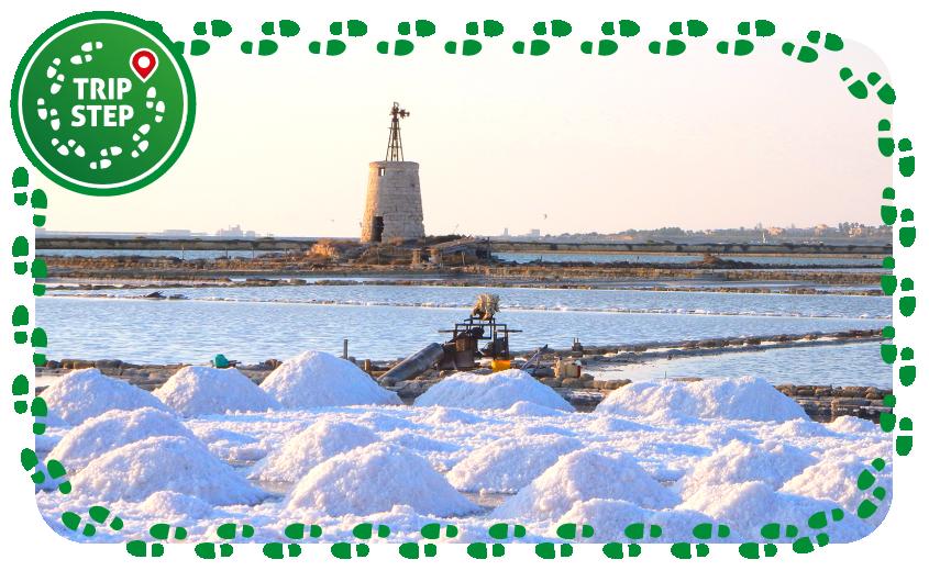 Riserva naturale integrale saline di Trapani estrazione sale marino foto di: Graziella Taibi via Wikimedia Commons