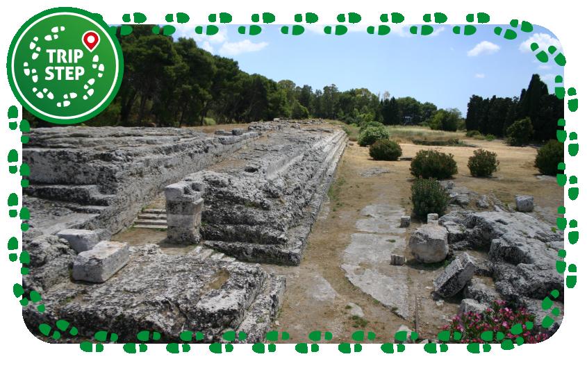 Siracusa Parco Archeologico della Neapolis ara di Ierone II foto di: Giovanni Dall'Orto via Wikimedia Commons