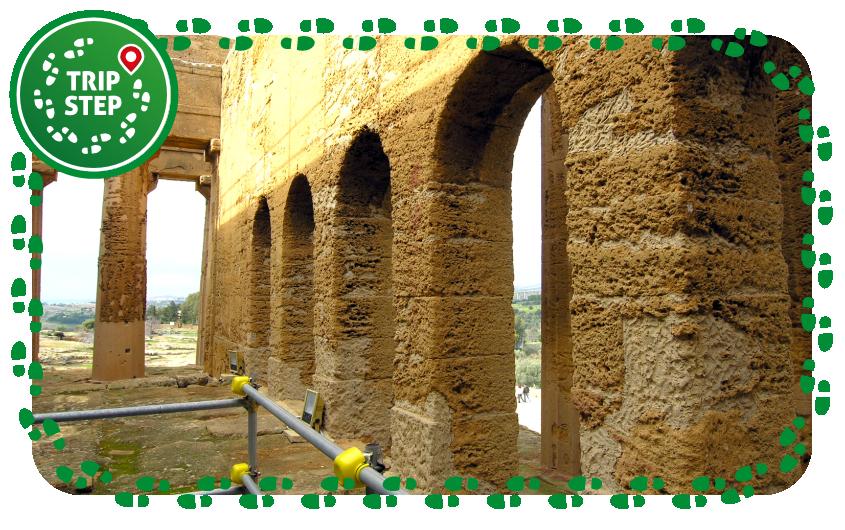 Tempio della Concordia interno della cella foto di Francesco Bandarin via Wikimedia Commons