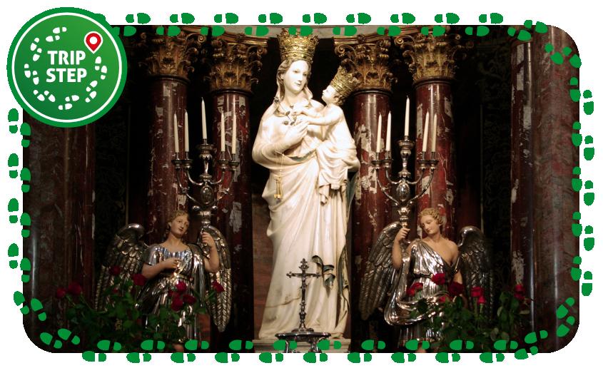 Trapani  Basilica-santuario di Maria Santissima Annunziata Madonna di Trapani foto di: Berthold Werner via Wikimedia Commons