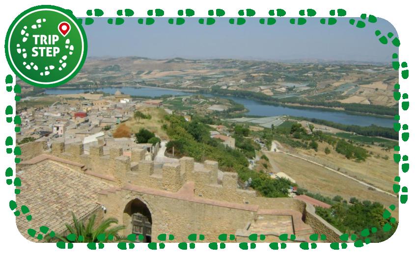 Vista della Diga di San Giovanni sul Fiume Naro dal castello chiaromontano foto di FrankSlade22 via Tripadvisor