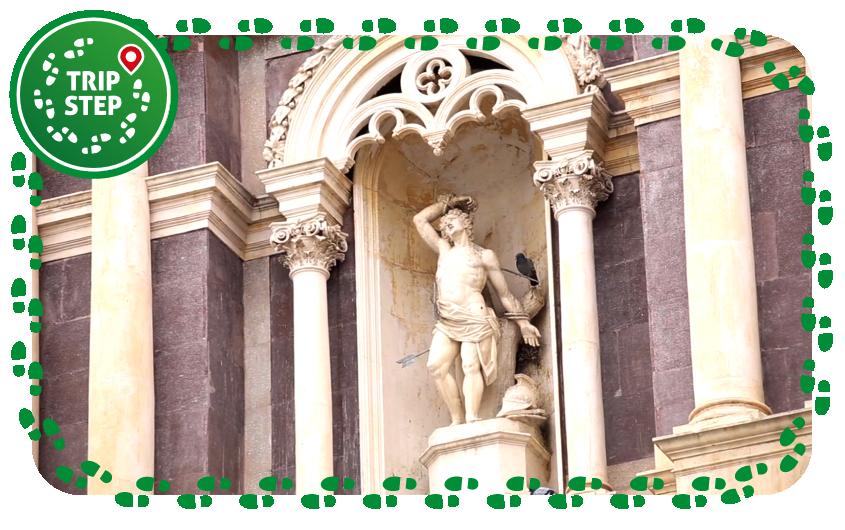 Chiesa di San Sebastiano particolare della statua di San Sebastiano
