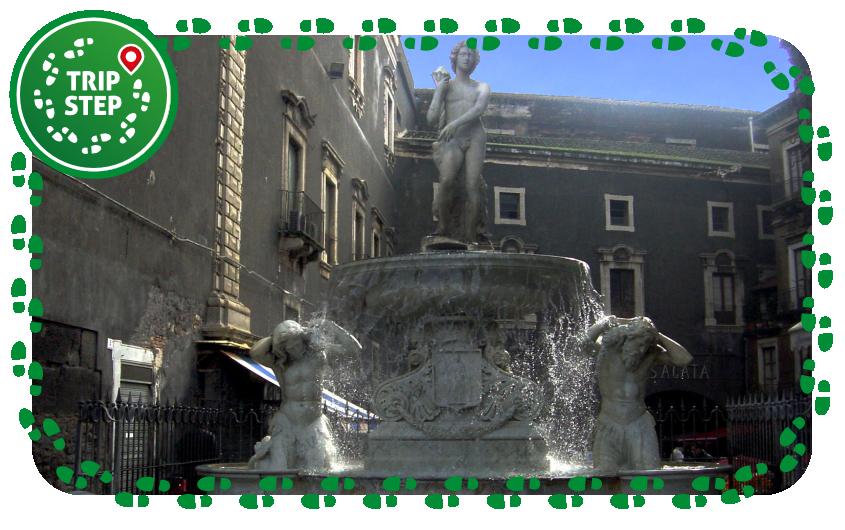 fontana dell' Amenano foto di Giovanni Dall'Orto via Wikimedia Commons