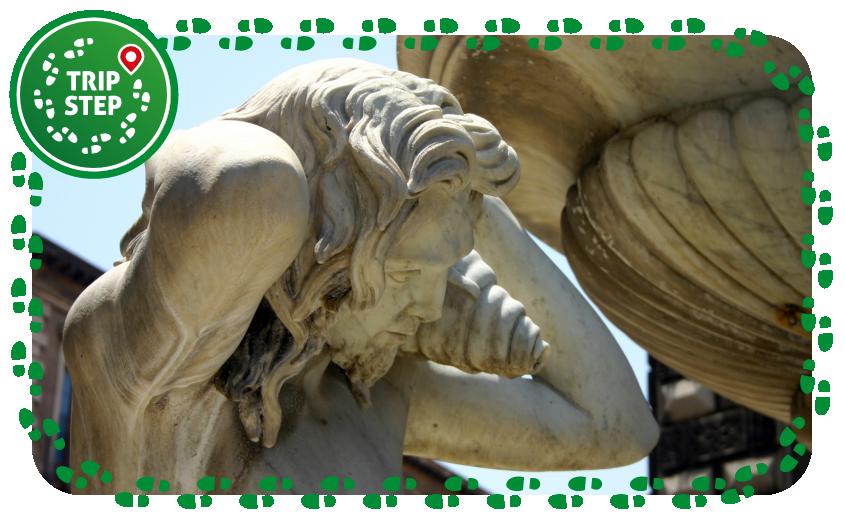 fontana dell' Amenano particolare foto di Giovanni Dall'Orto via Wikimedia Commons