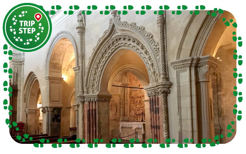 Chiesa di Santa Maria delle Scale particolare delle archate interne foto di fegato granata via Tripadvisor