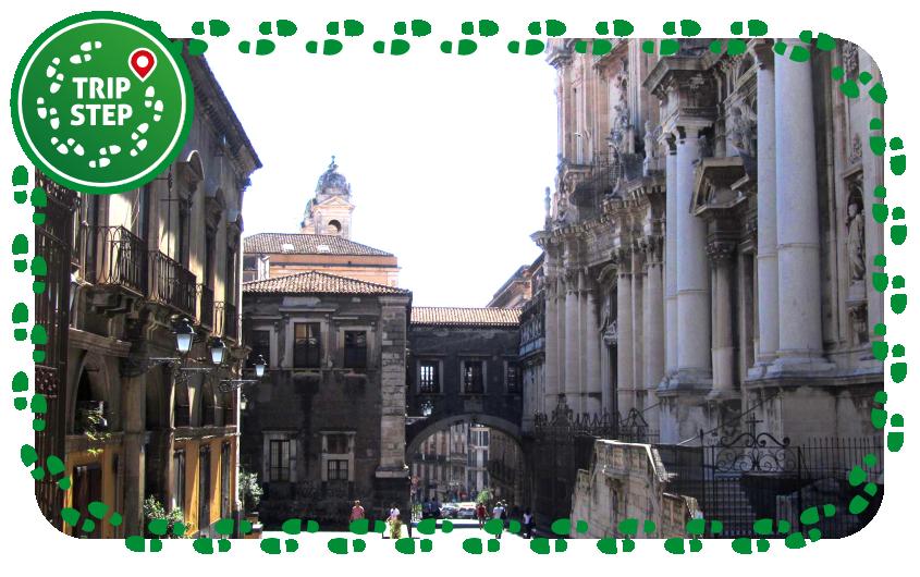 Via dei Crociferi arco del monastero di San Benedetto e scorcio delle facciate della chiesa si San Benedetto e di San Francesco Borgia foto di ghelas via Tripadvisor